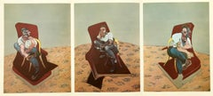 Francis Bacon Three Studies for Portrait of Lucian Freud (lithograph)