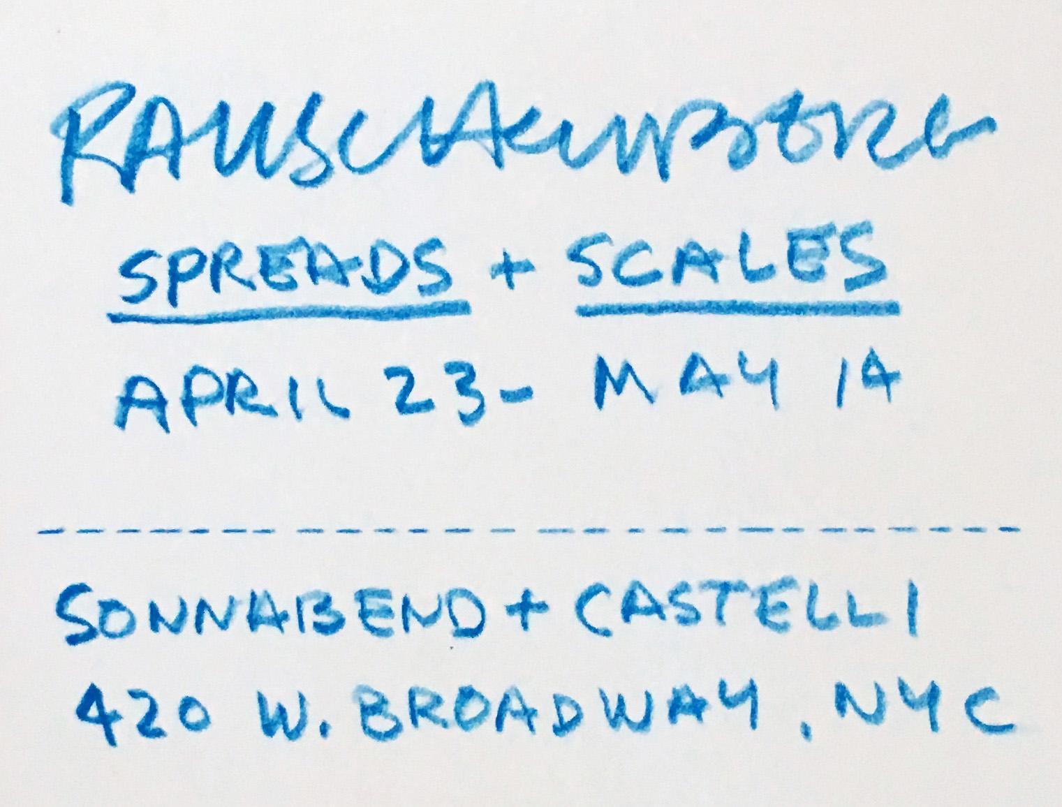 Robert Rauschenberg - Rauschenberg Spreads and Scales (Castelli ...