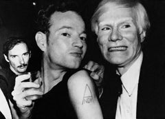 Vintage Andy Warhol photograph (Andy and Warhol superstar Jackie Curtis)