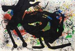 Miró Lithograph, Derriere Le Miroir