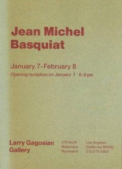 Vintage 1980s Basquiat collectible Gagosian, Los Angeles