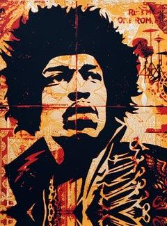 Shepard Fairey Hendrix screen-print (Shepard Fairey Jimi Hendrix)
