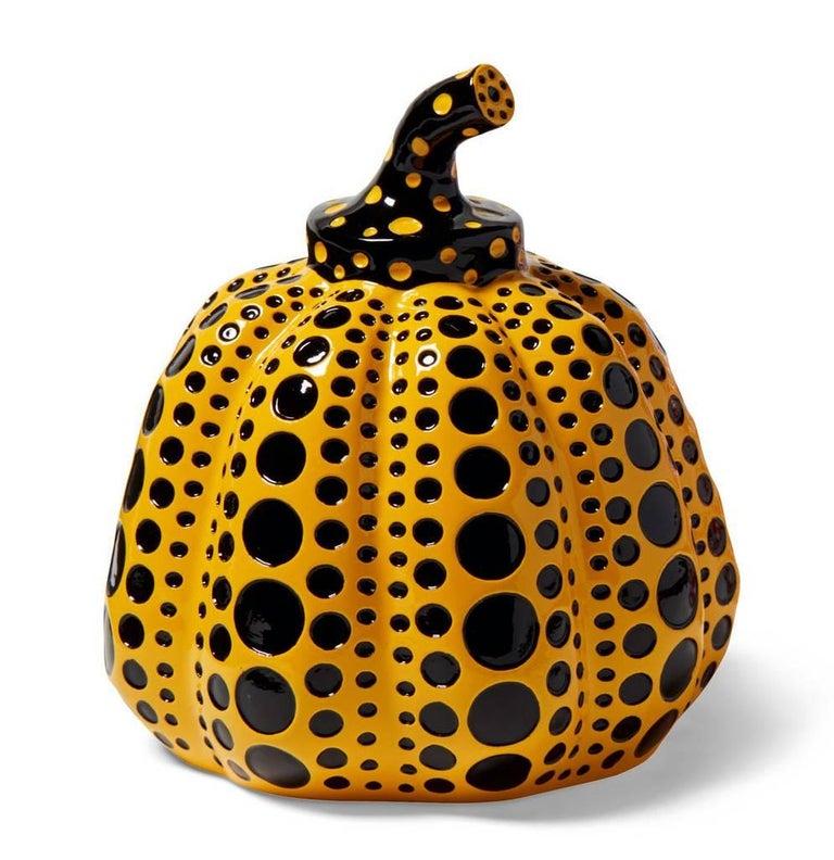 <i>Kusama Pumpkin (Yellow & Black),</i> 2015, by Yayoi Kusama, offered by Lot 180