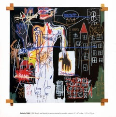 Basquiat announcement card/poster (Tony Shafrazi Gallery)