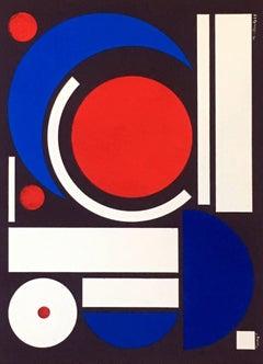 Auguste Herbin Lithograph (1950s Minimalist)