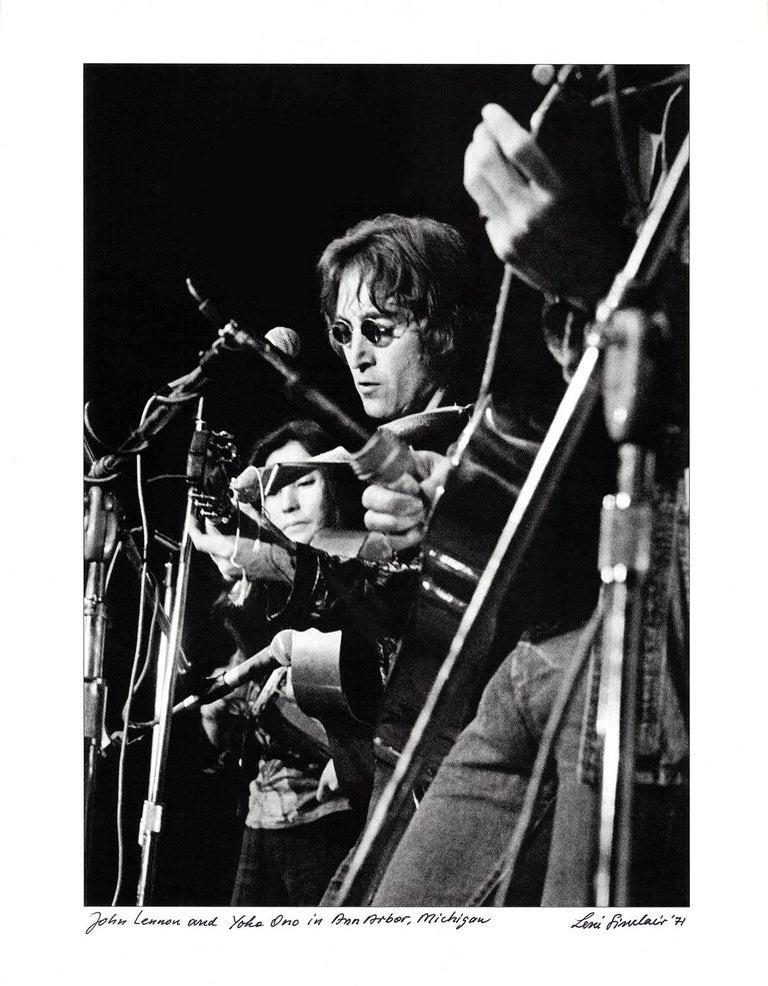 Leni Sinclair Black and White Photograph - John Lennon Yoko Ono photograph Detroit, 1971