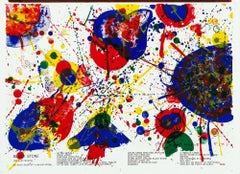 Vintage Sam Francis lithograph (one cent life)