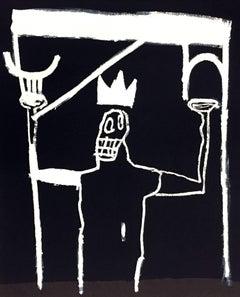 Jean-Michel Basquiat lithographic poster (Enrico Navarra Paris)