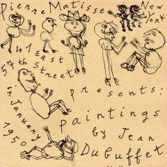 Jean Dubuffet 1950 exhibition announcement (Pierre Matisse gallery)