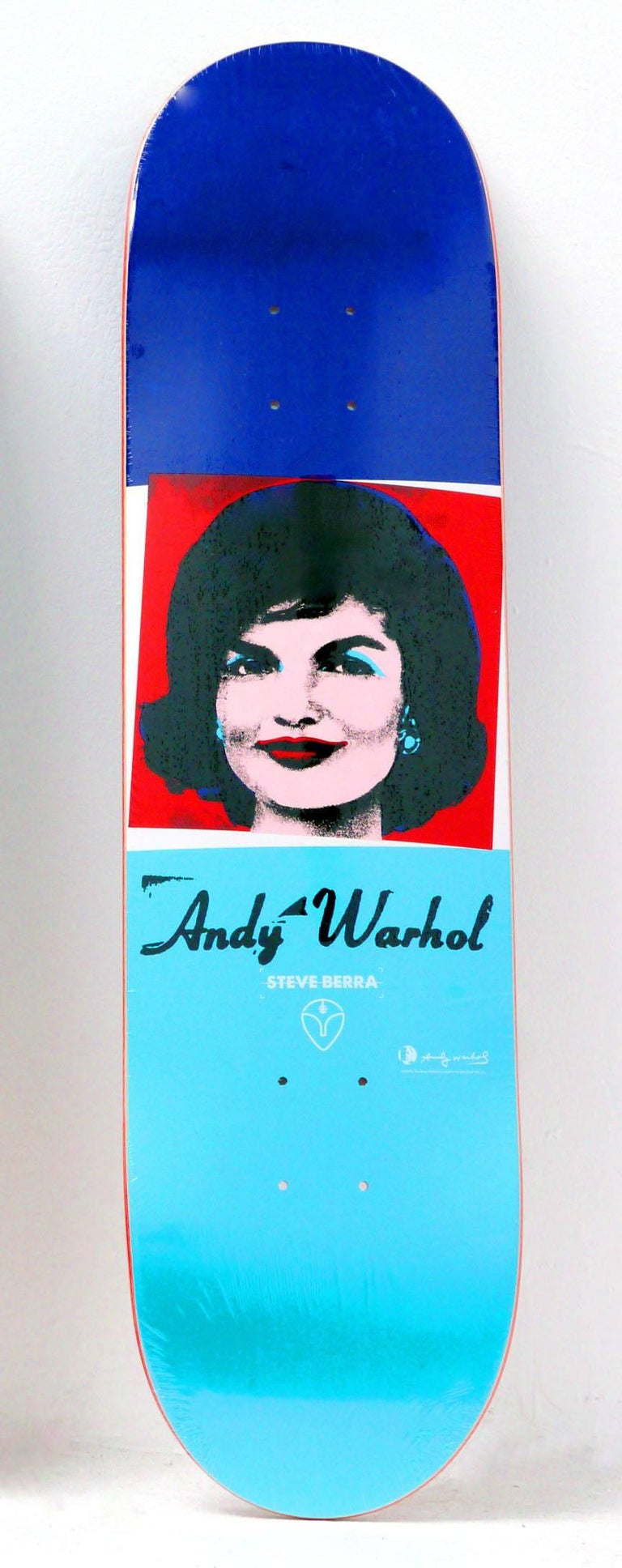 Andy Warhol Jackie Skateboard Deck (Warhol skateboard)  - Art by (after) Andy Warhol