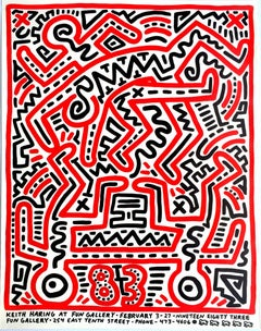 Keith Haring Fun Gallery exhibition poster (Keith Haring prints)