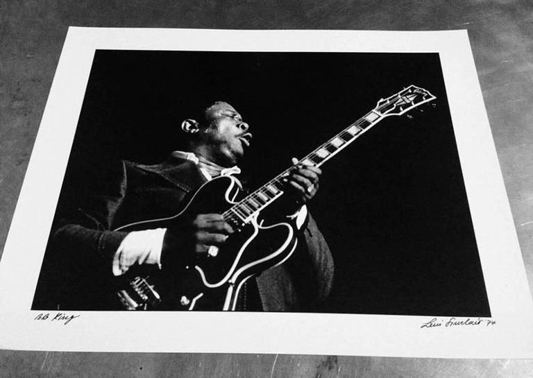 BB King photograph Detroit, 1974 For Sale 1