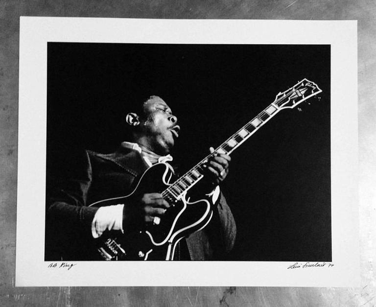 BB King photograph Detroit, 1974 For Sale 2