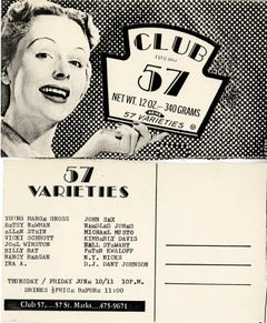 Original Club 57 flyer NY (Keith Haring Kenny Scharf related)