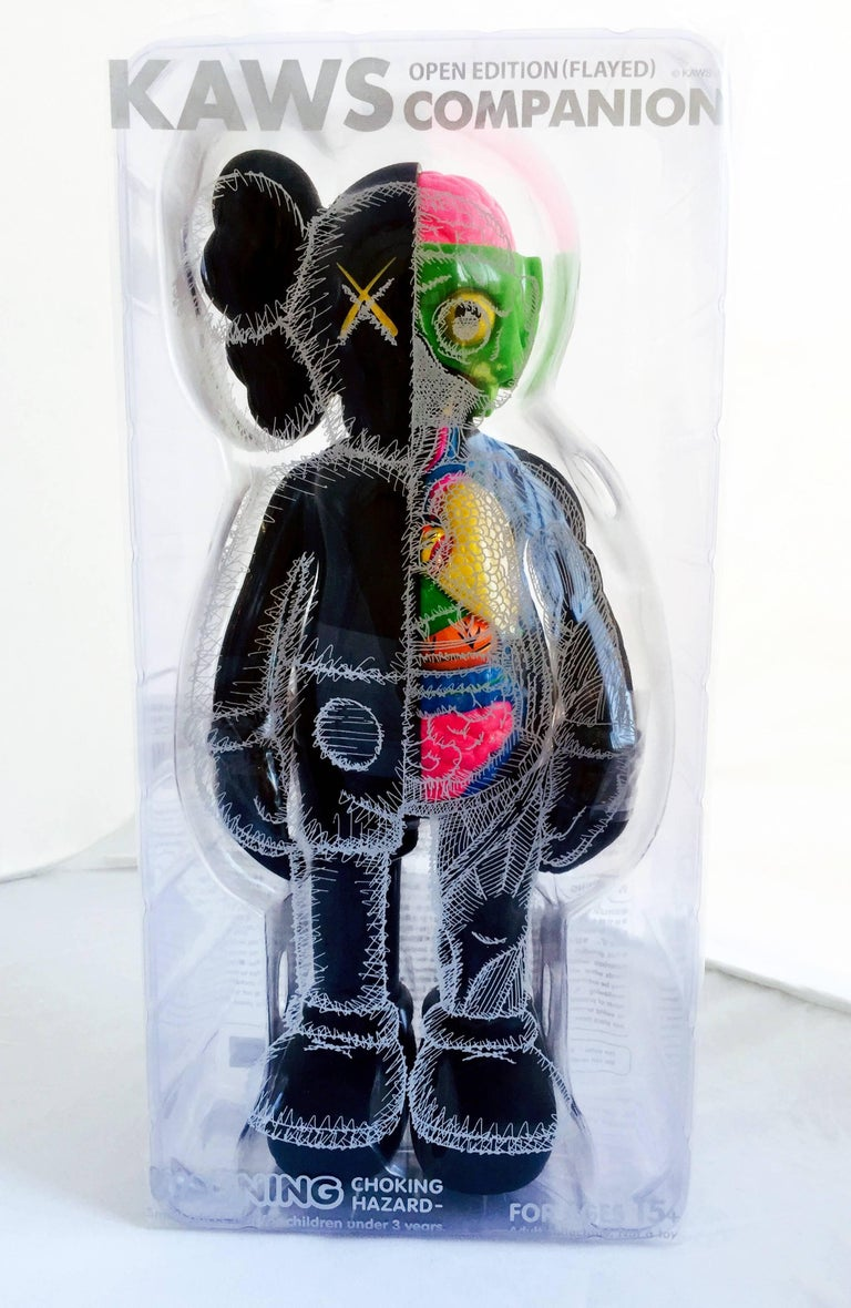 Kaws Black Dissected Companion  - Pop Art Sculpture by KAWS