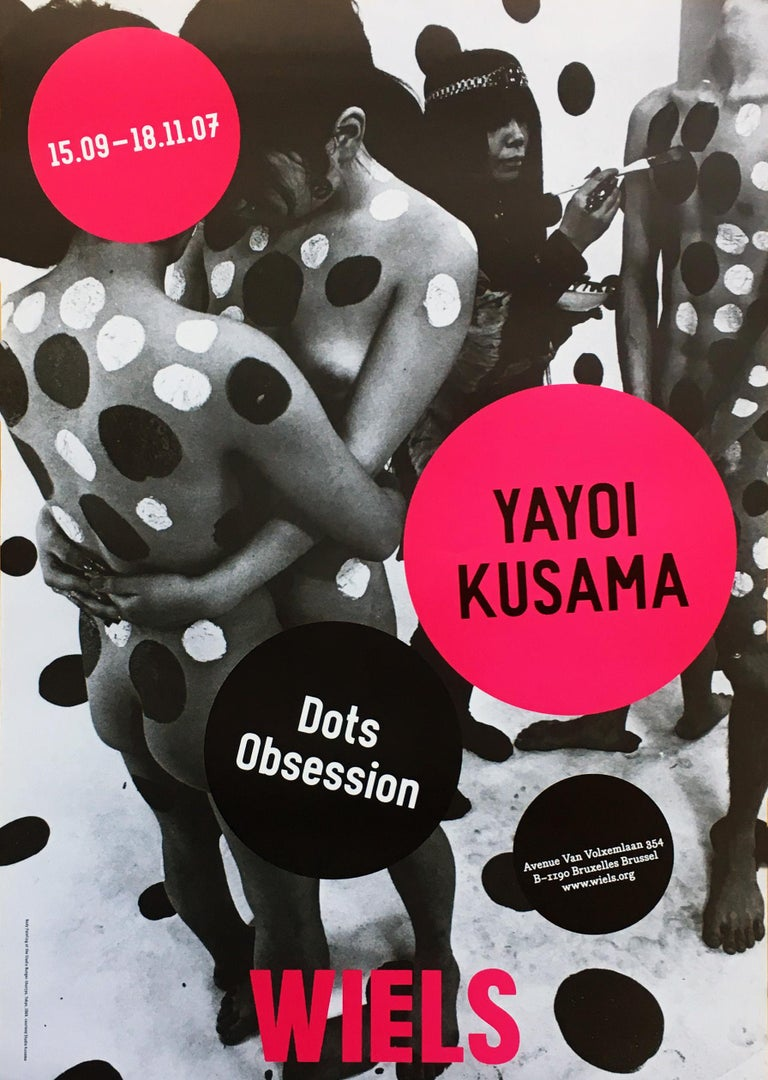 Yayoi Kusama Dots Obsession exhibit poster  For Sale 1