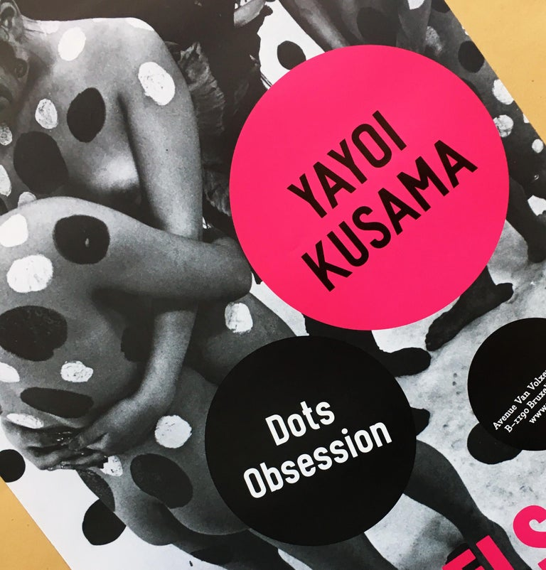 Yayoi Kusama Dots Obsession exhibit poster  For Sale 2