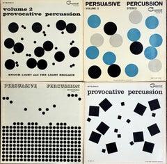 Josef Albers vinyl record art (set of 4)