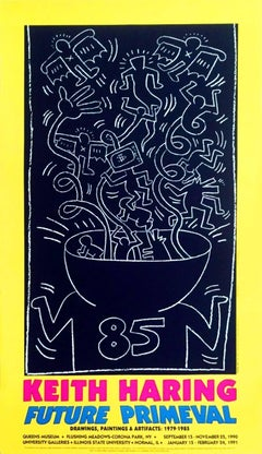 Keith Haring 1990 Future Primeval Exhibit Poster