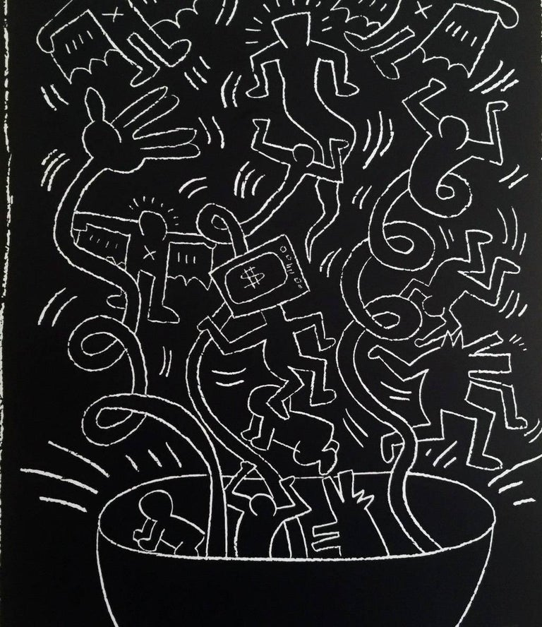Keith Haring 1990 Future Primeval Exhibit Poster - Print by (after) Keith Haring