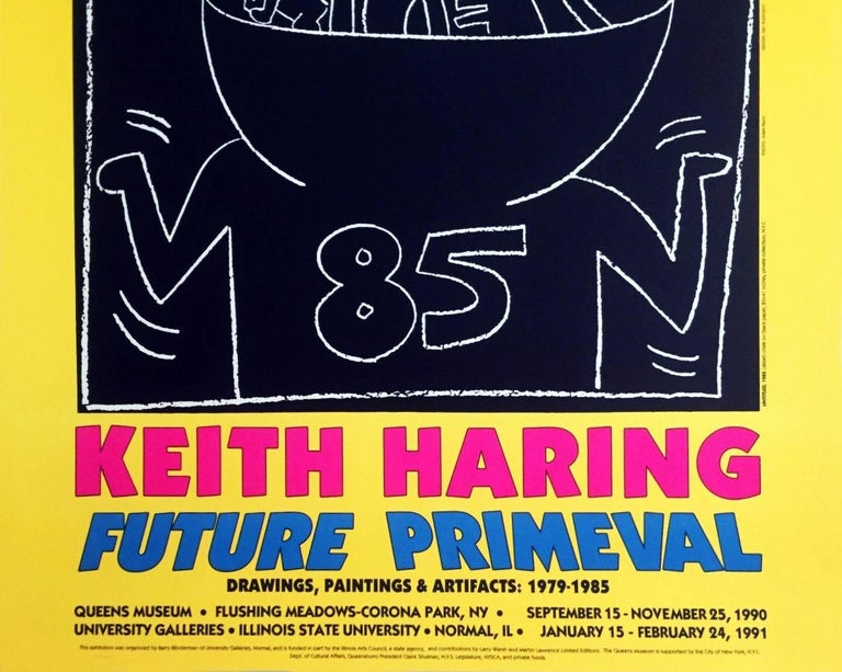 Keith Haring 1990 Future Primeval Exhibit Poster - Pop Art Print by (after) Keith Haring