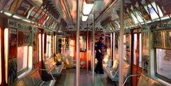 Train Conductor, New York City, 1985 (1980s NY subway art photograph)
