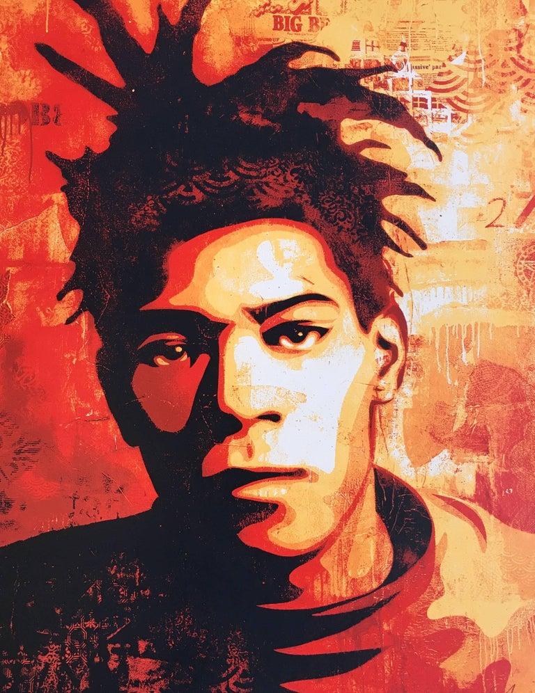 Shepard Fairey - Shepard Fairey Basquiat screenprint ...  Shepard Fairey ...