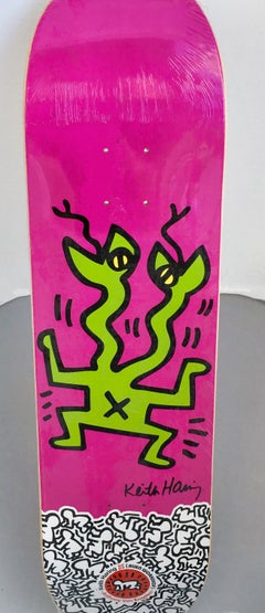 Keith Haring Skateboard Deck (Purple)