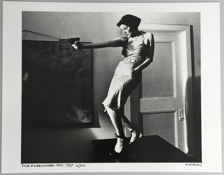 Girl With A Gun Patti Astor East Village, 1977 (Amos Poe The Foreigner) - Photograph by Fernando Natalici