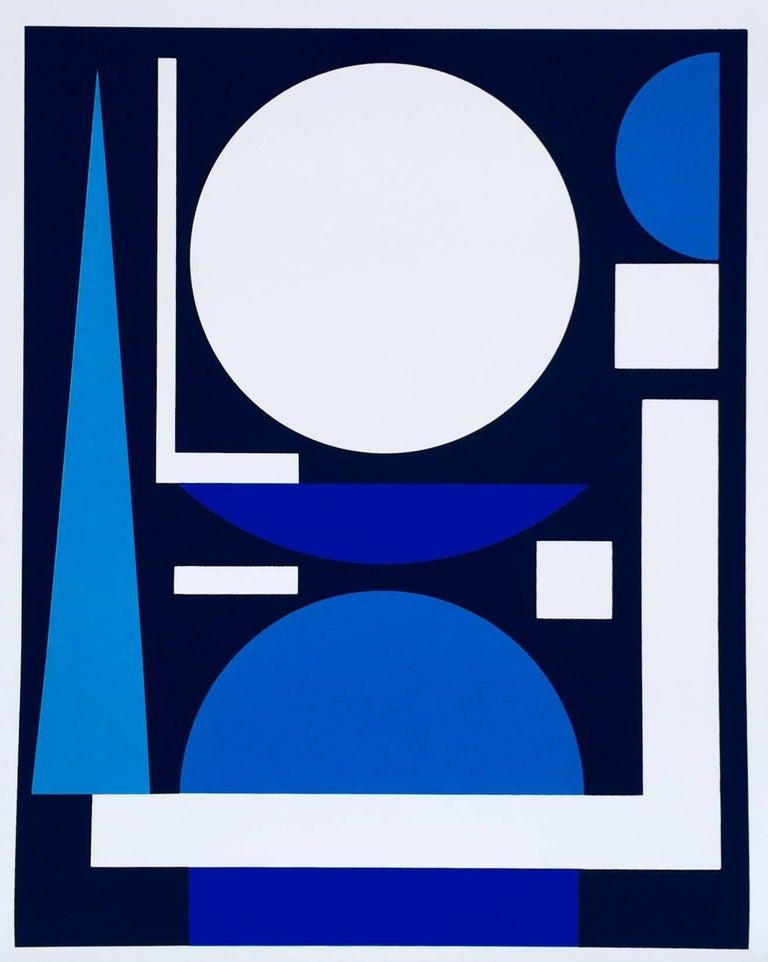 Josef Albers Auguste Herbin exhibit poster (Gallery Melki Paris) - Print by Auguste Herbin