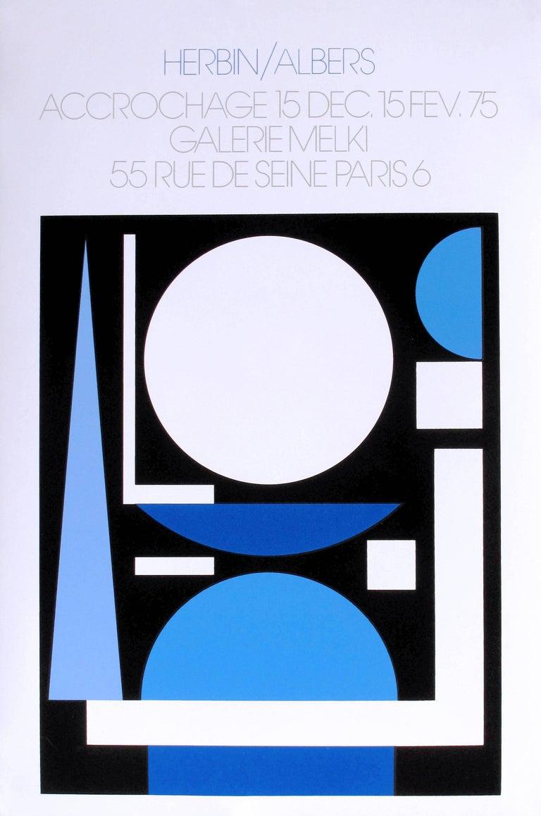 Josef Albers Auguste Herbin exhibit poster (Gallery Melki Paris) - Contemporary Print by Auguste Herbin