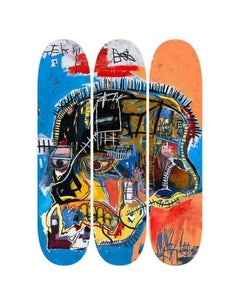 Basquiat, Skull Skate Decks, Set of Three (Triptych)