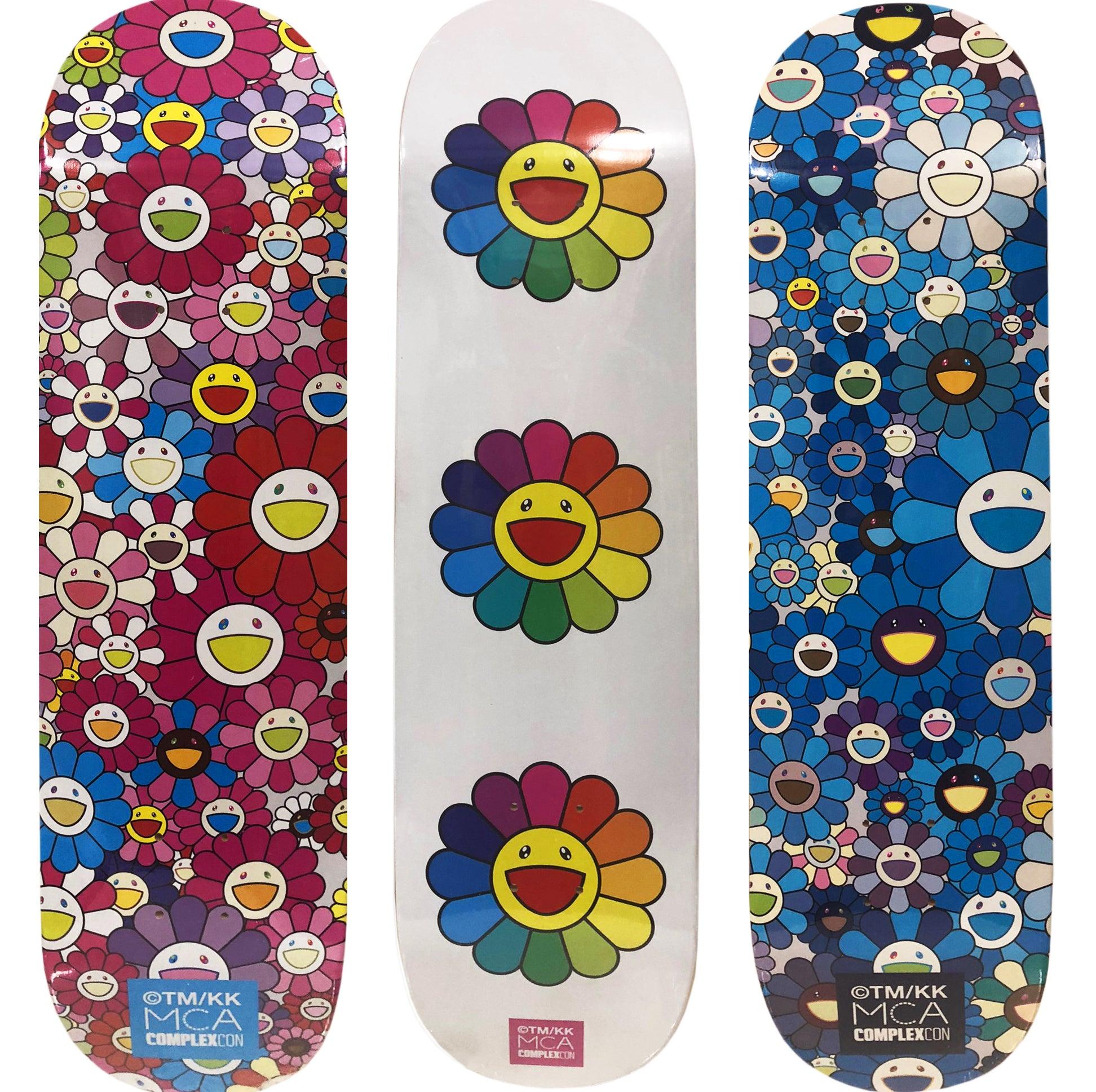 af557fa8 Takashi Murakami - Takashi Murakami Flowers Skateboard Decks (set of ...