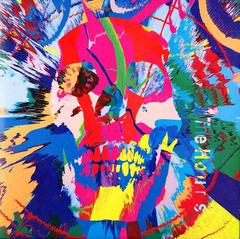 Damien Hirst - Damien Hirst, Swirl Skull Record Cover Art