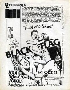 Raymond Pettibon Black Flag punk flyer (Raymond Pettibon Punk)