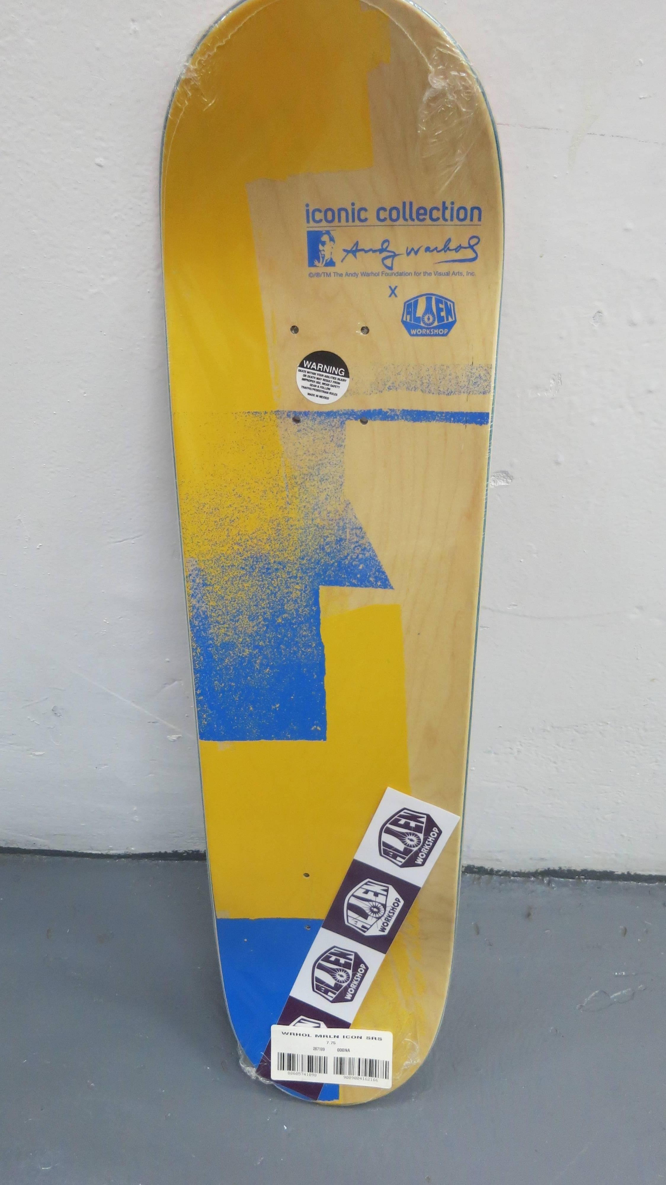 Andy Warhol - Andy Warhol Blue Iconic Marilyn Skate Deck Rare, Print ...