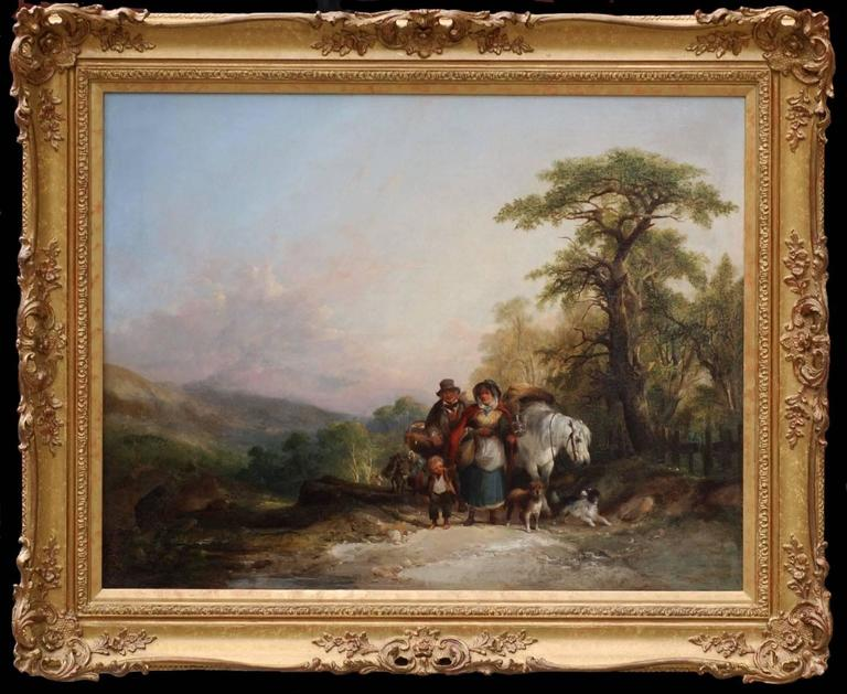 Landscape with Figures and Pony