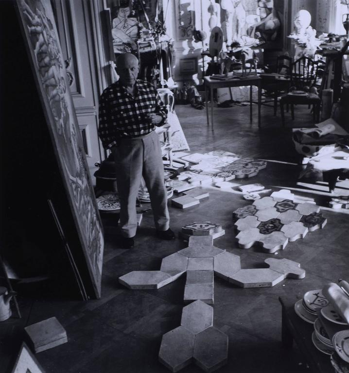 lucien clergue picasso la californie cannes 1955. Black Bedroom Furniture Sets. Home Design Ideas
