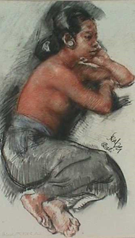 Seated Semi Nude