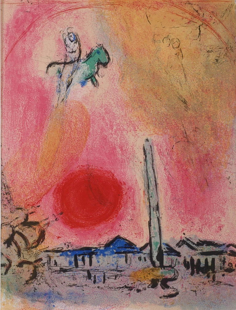 Marc Chagall Landscape Print - Place de la Concorde, Regards sur Paris