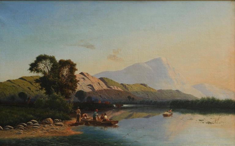 Highland Landscape with Fishermen