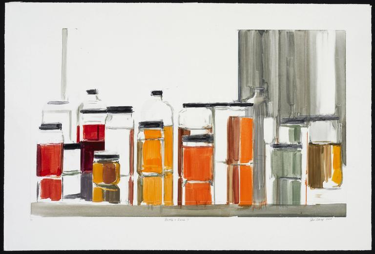 Peri Schwartz Still-Life Print - Bottles & Jars #7