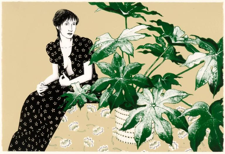 Woman with Philodendron, 1980