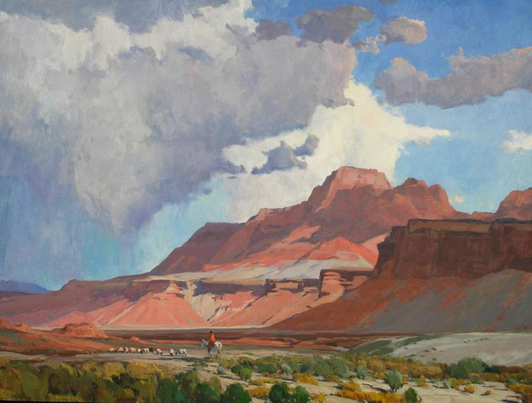 Russell Case Landscape Painting - Navajo Skies