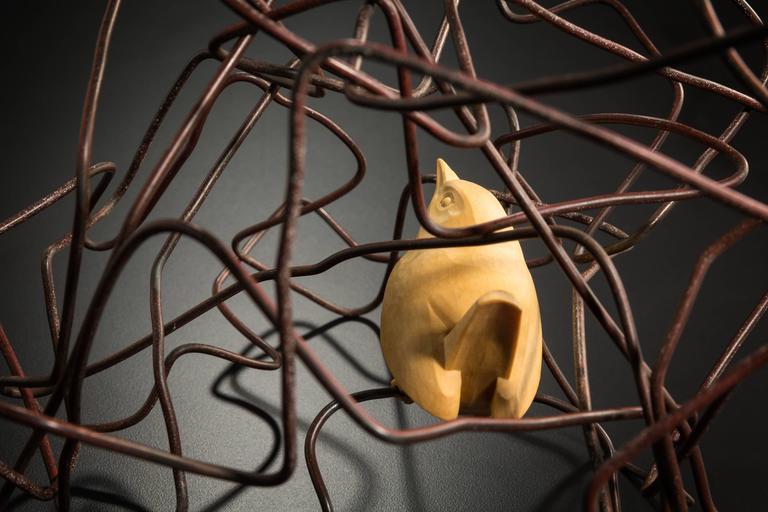 Hmmm... - Brown Figurative Sculpture by Peregrine O'Gormley