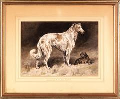 Borzoi and Skye Terrier, 1906