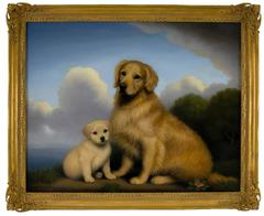 Golden Retriever Mother and Puppy, 2005