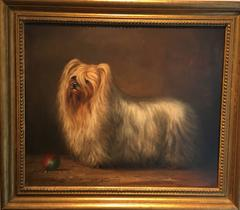 Yorkshire Terrier With Ball, ca.1870