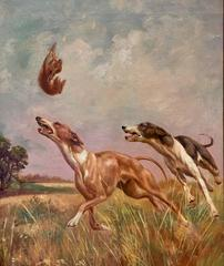 Coursing Greyhounds