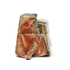 Woodfired Box with Oribe Glaze